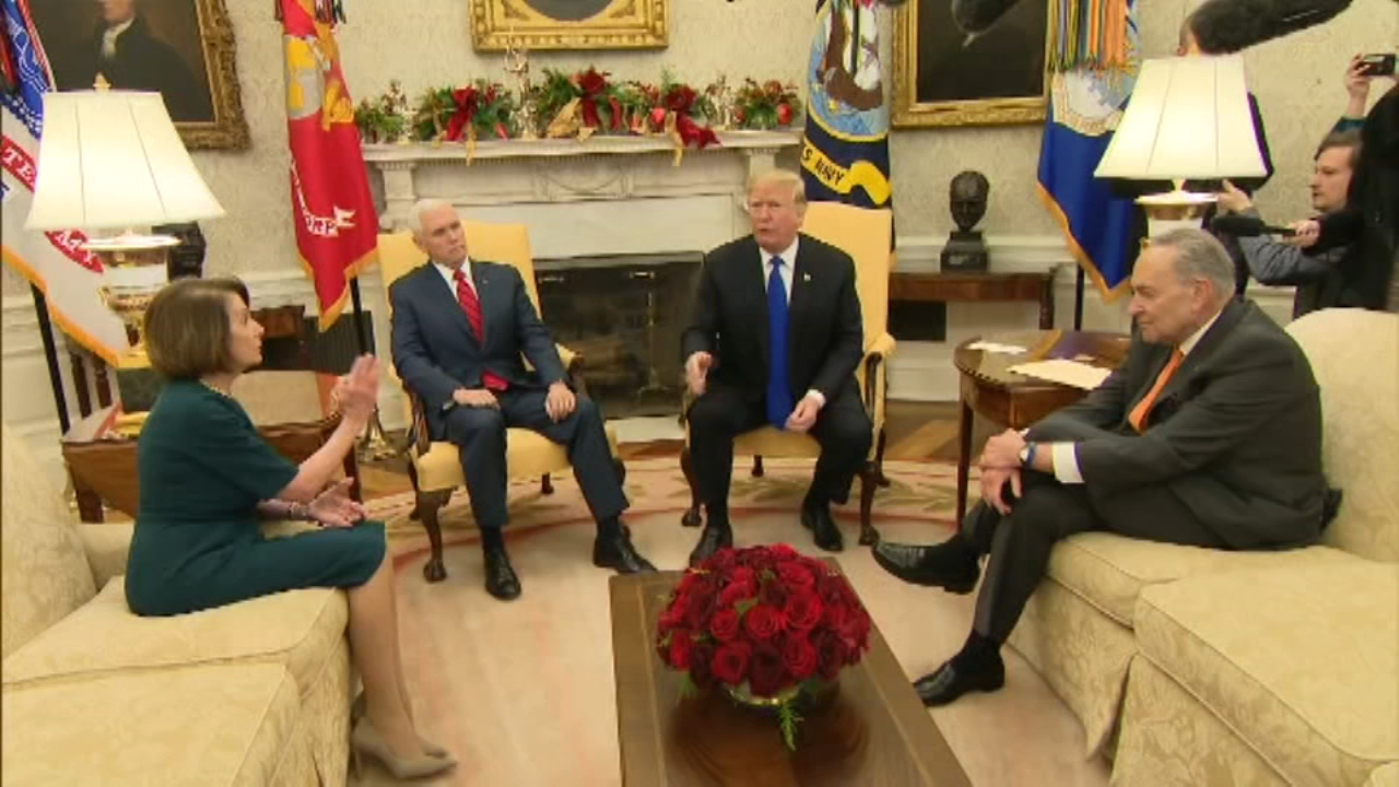 Pelosi says President Donald Trumps border wall demand is really about his manhood. as reported during Action News at 11 on December 11, 2018.