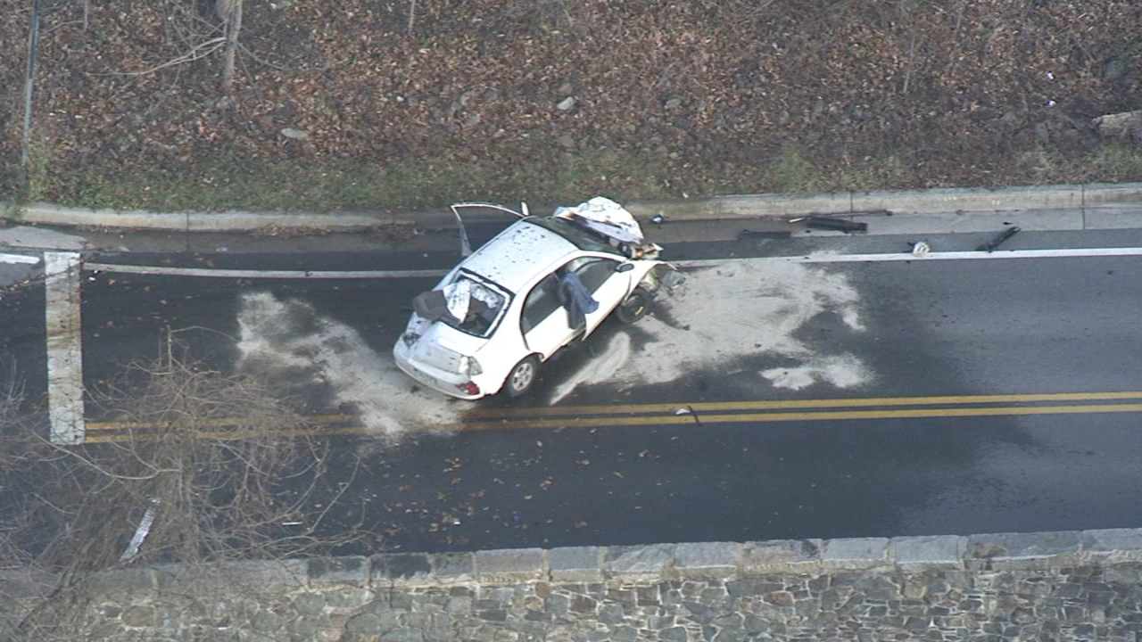 Chopper 6 video of crash following police chase in Wilmington on December 12, 2018.