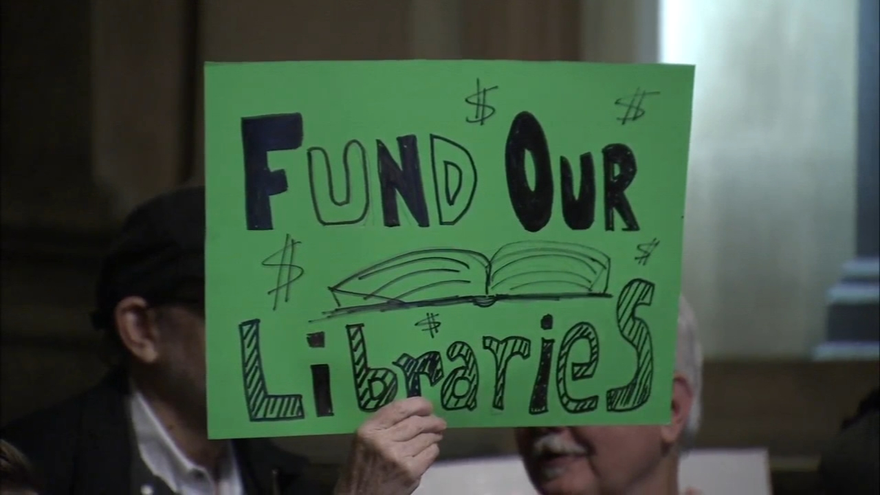 Rally at City Hall for local library funding: Vernon Odom reports on Action News at 5 p.m., December 12, 2018