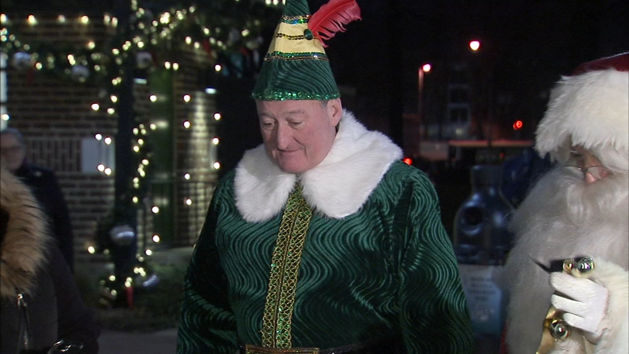 The mayor reprised his role as Buddy the Elf to join Santa at the Electrical Spectacle in Franklin Square as reported during Action News at 11 on December 12, 2018.