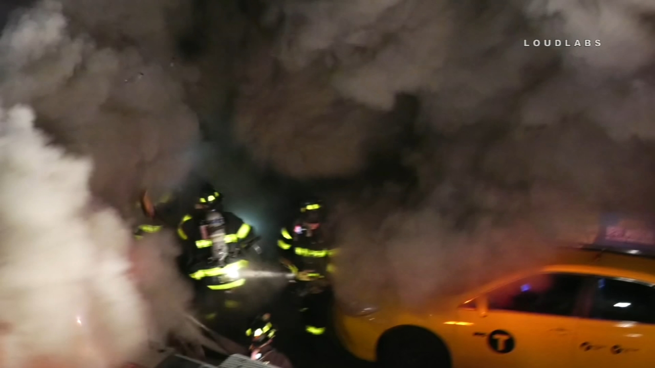 Camera captures backdraft of New York City building fire. Jim Gardner reports during Action News at 11 p.m. on  December 13, 2018.