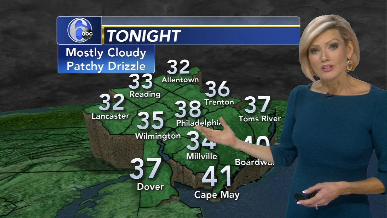 Cecily Tynan reports on AccuWeather during Action News at 6 p.m. on December 13, 2018.