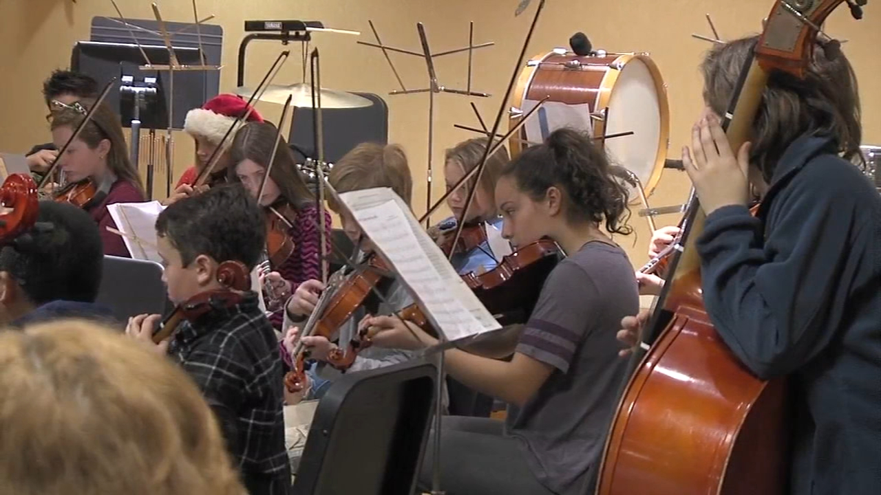The Doyle Elementary Orchestra visited Wesley Enhanced Living in Doylestown as reported during Action News at 4 on December 13, 2018.