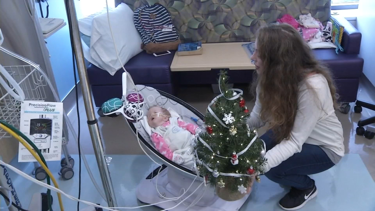 Tiny Christmas trees were delivered Thursday to the tiniest patients at Nemours/Alfred I. dupont Hospital for Children in Wilmington, Delaware.