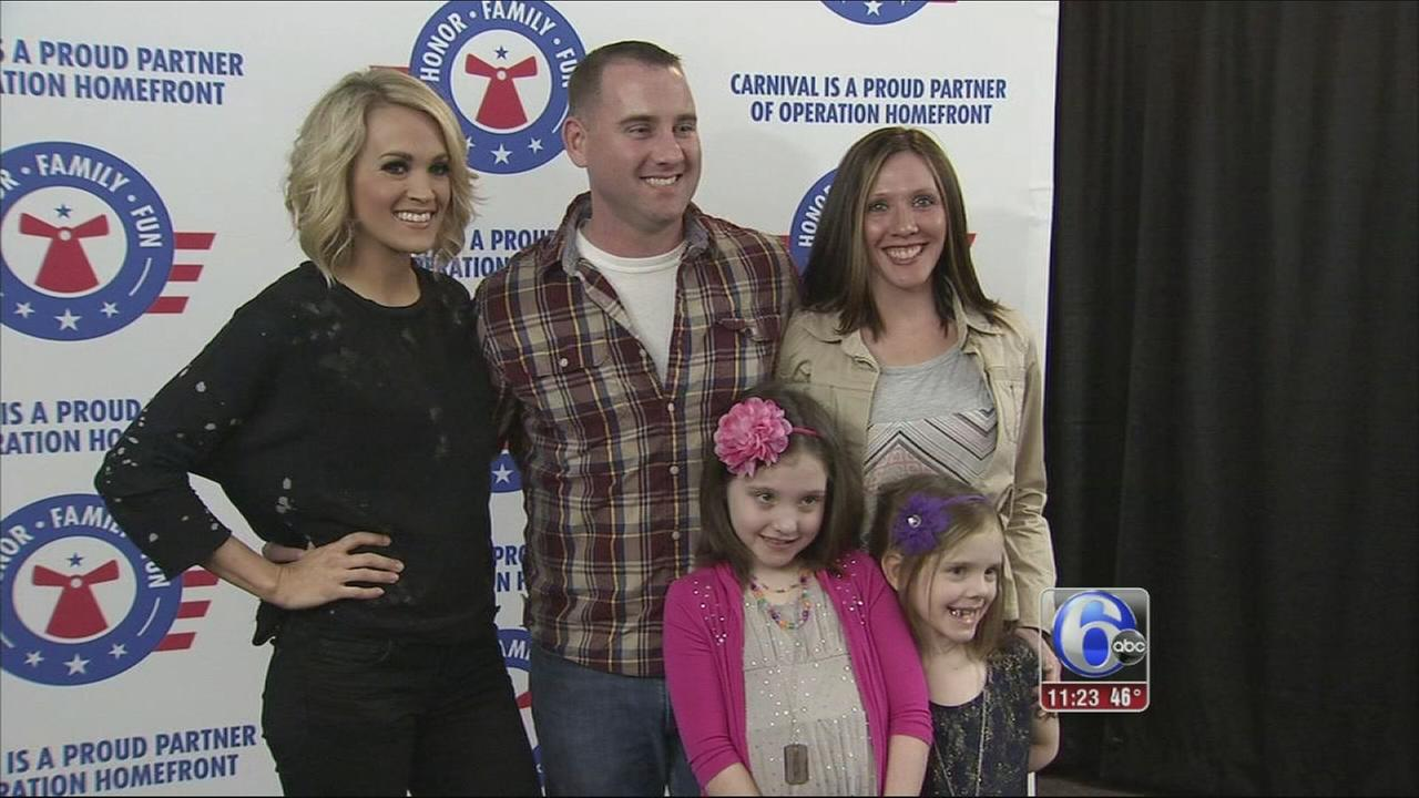 VIDEO: Carrie Underwood surprise military family
