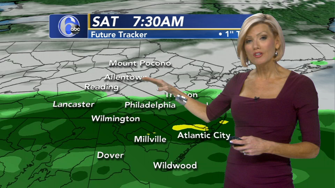 Cecily Tynan reports on AccuWeather during Action News at 11 p.m. on December 14, 2018.