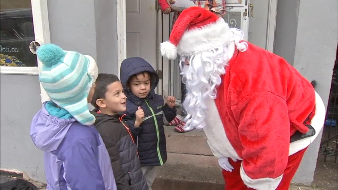 Police officers in Camden deliver toys to families in need. Bob Brooks reports during Action News at noon on December 16, 2018.