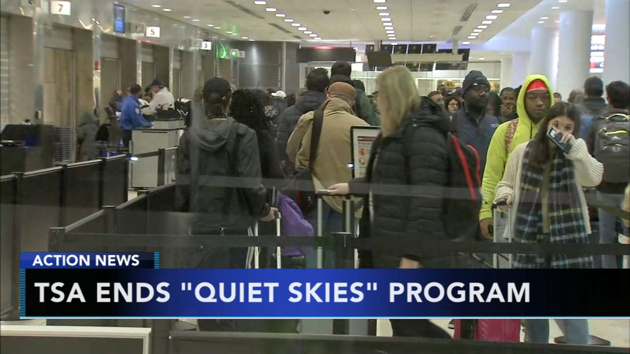TSA decides to end quiet skies domestic surveillance program. Nydia Han reports during Action News at 6 a.m. on December 16, 2018.