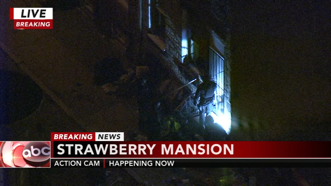 Police: Man armed with sword holding officers at bay in Strawberry Mansion