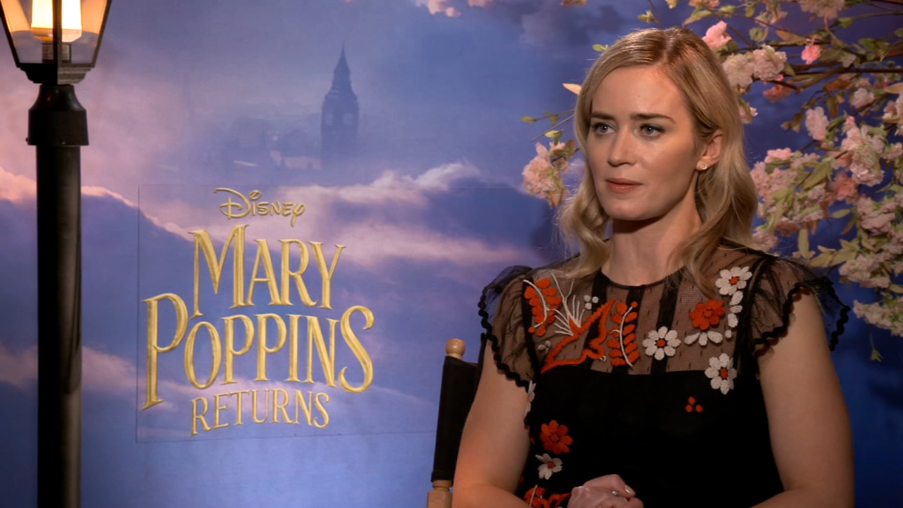 Mary Poppins Returns interview with Emily Blunt. Aliciia Vitarelli reports on December 18, 2018.