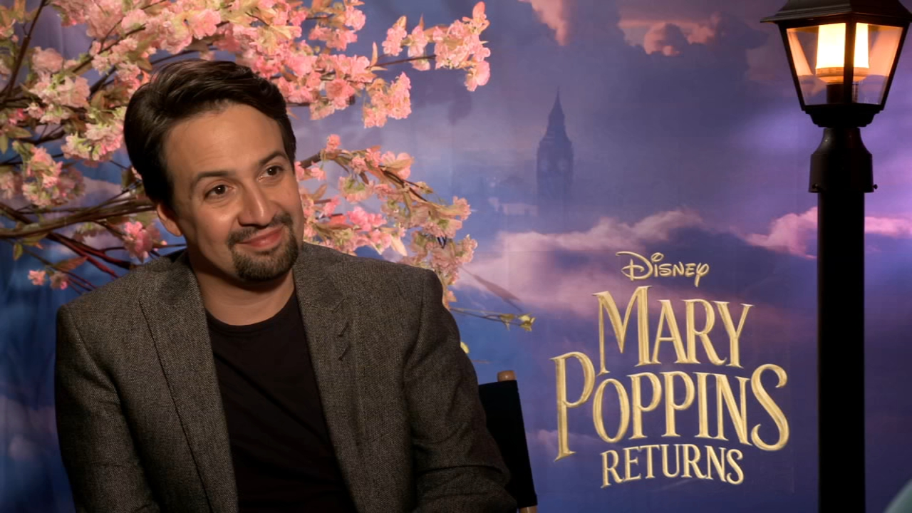 Mary Poppins Returns interview with Lin-Manuel Miranda. Alicia Vitarelli reports on December 18, 2018.