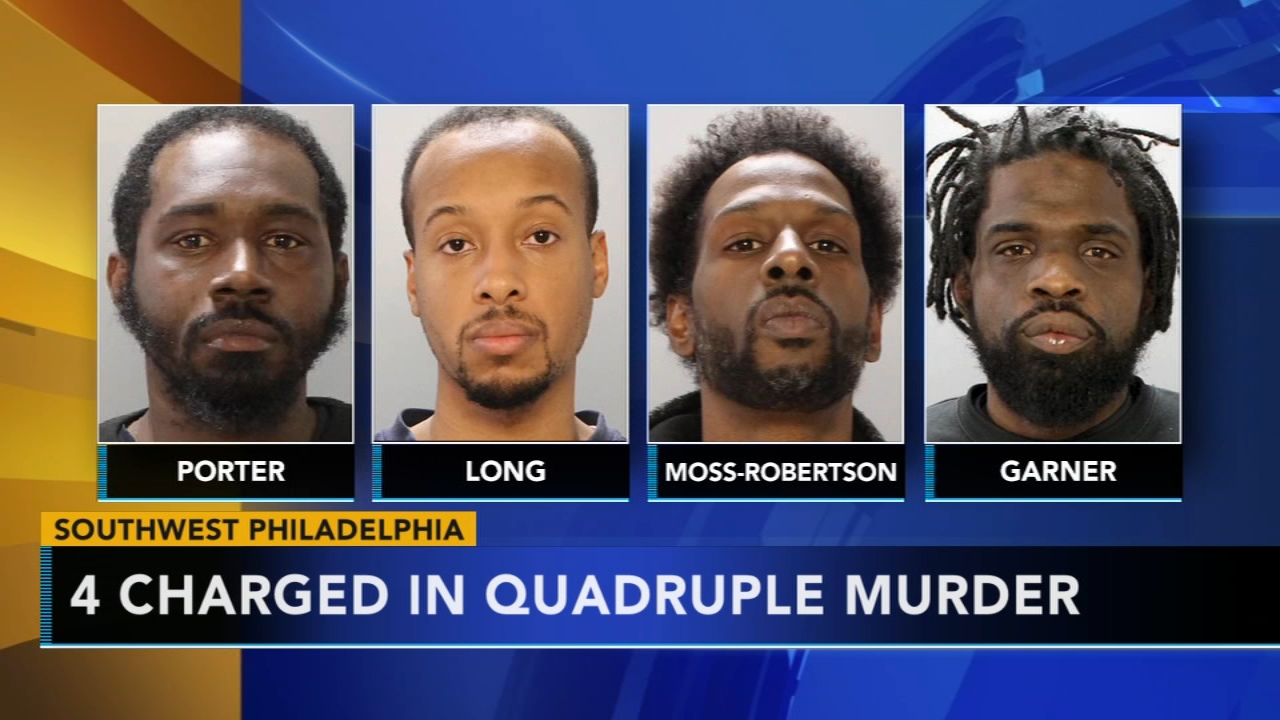 4 now charged in quadruple murder in SW Philadelphia basement. Sharrie Williams reports during Action News at 4 p.m. on December 19, 2018.