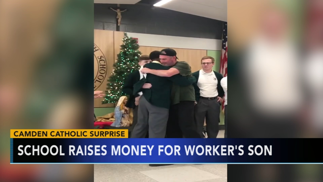 Camden Catholic raises money for workers son battling cancer. Sharrie Williams reports during Action News at 4 p.m. on December 20, 2018.