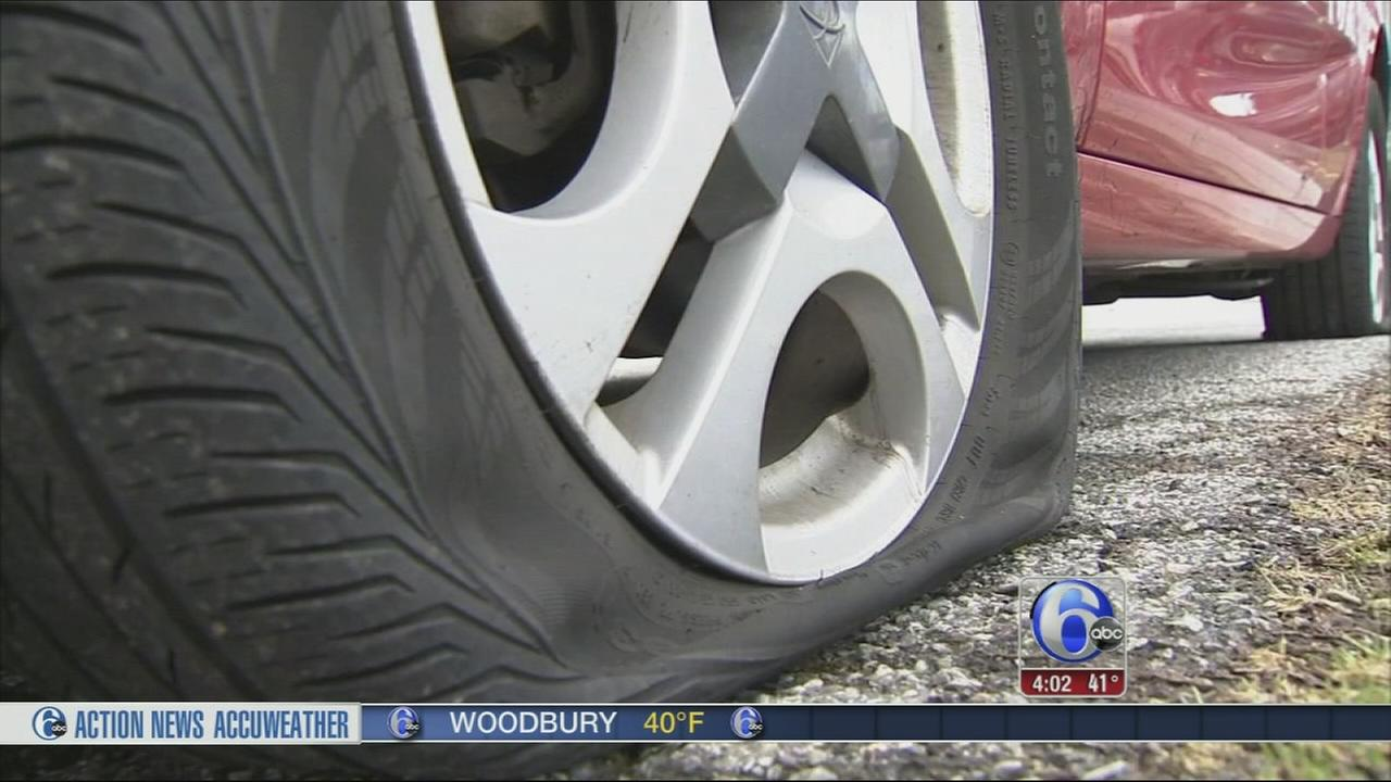 VIDEO: Tires slashed on 17 vehicles in New Castle