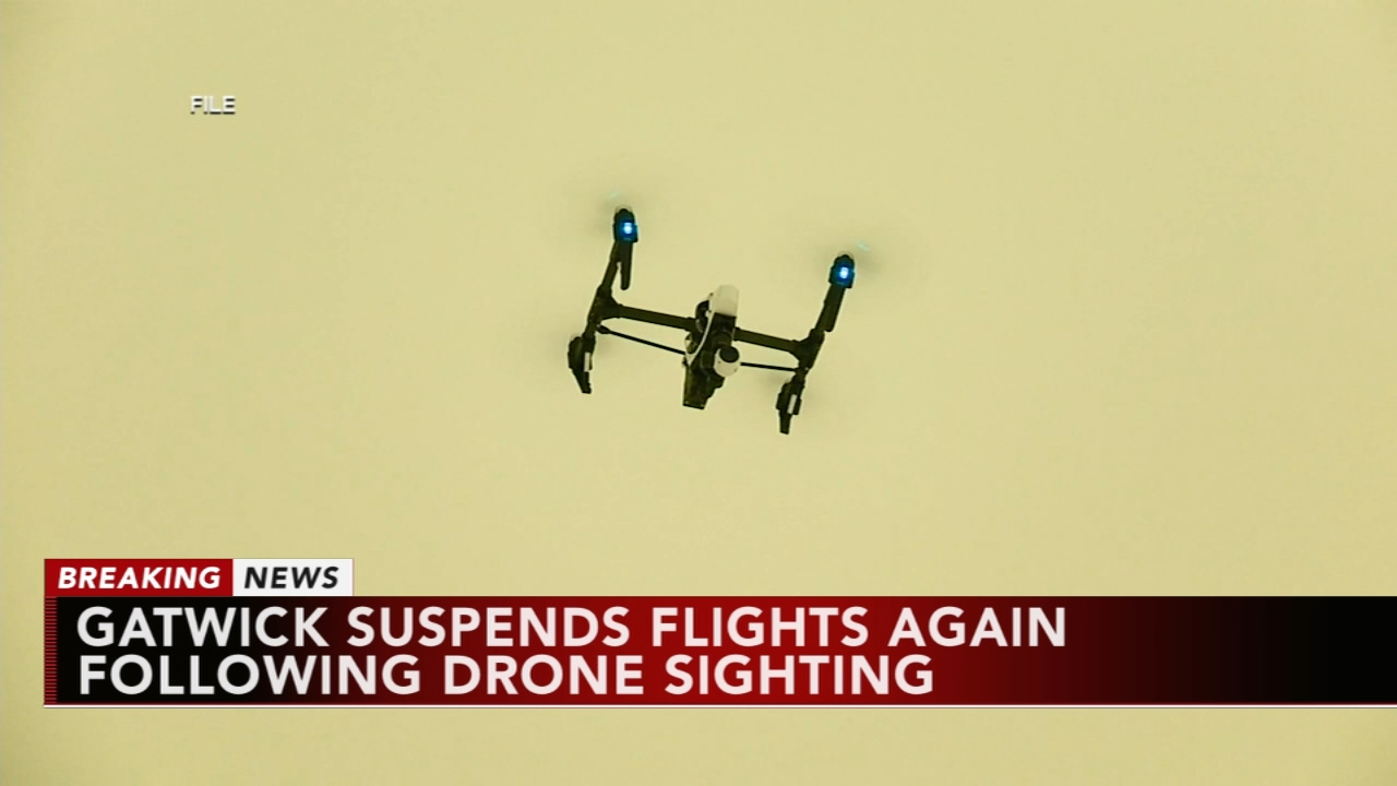 New drone sighting shuts down Londons Gatwick. Gray Hall reports during Action News at 12:30 p.m. on December 21, 2018.