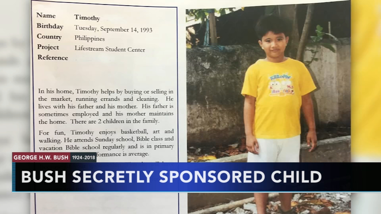 George H.W. Bush secretly sponsored young boy in the Philippines. Christie Ileto reports during Action News at 6 a.m. on December 22, 2018.