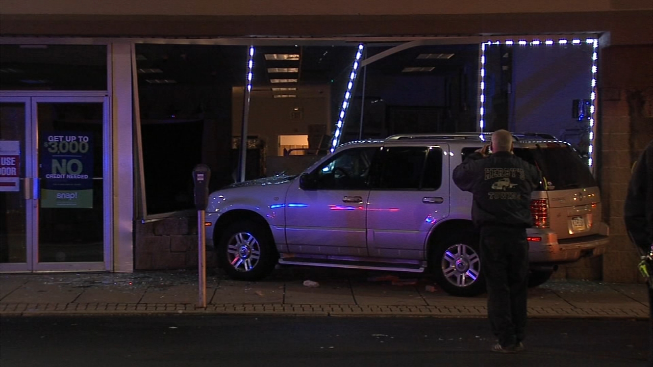 SUV slams into furniture store in Upper Darby. Christie Ileto reports during Action News at 9 a.m. on December 22, 2018.
