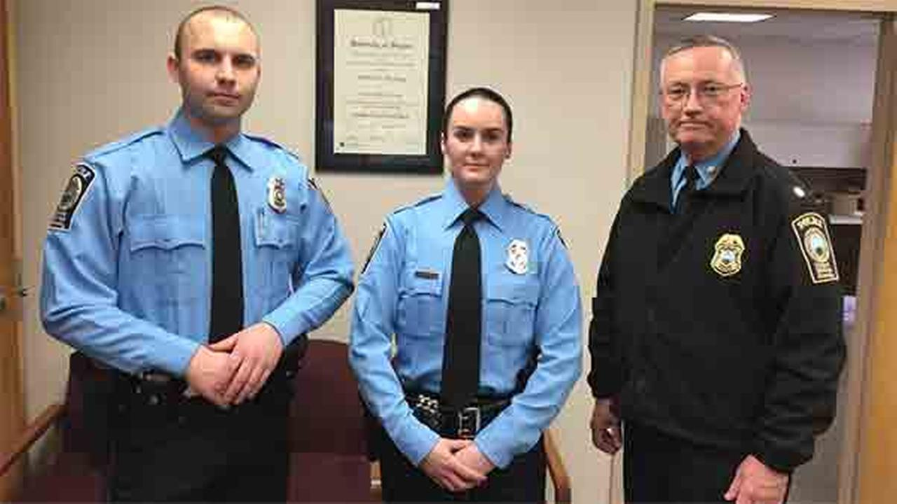 Officer Ashley Guindon, center, has died after being shot responding to a domestic related incident, the Prince William County Police Department announced Saturday night.