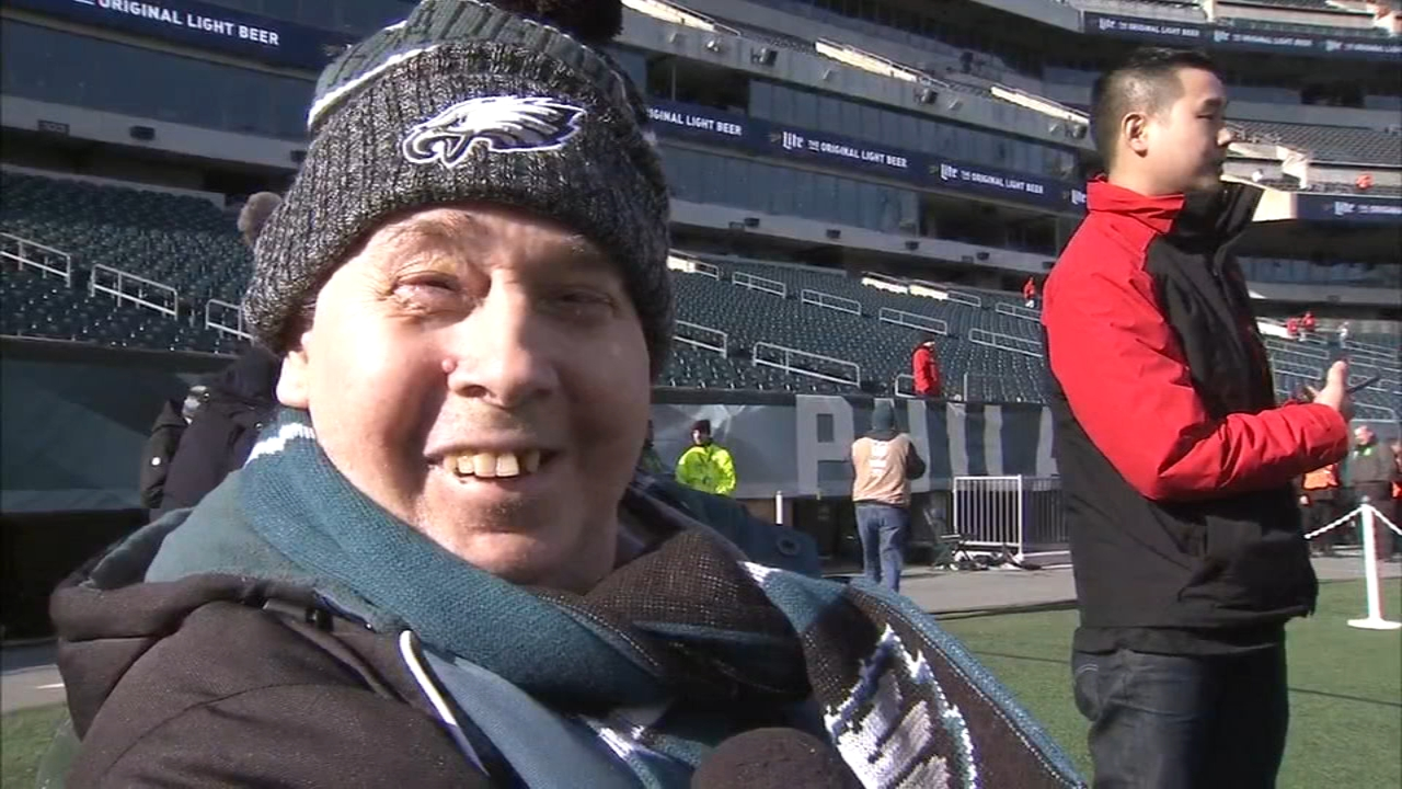 Gameday dream comes true for Eagles fan in hospice. Karen Rogers reports during Action News Mornings on December 24, 2018.