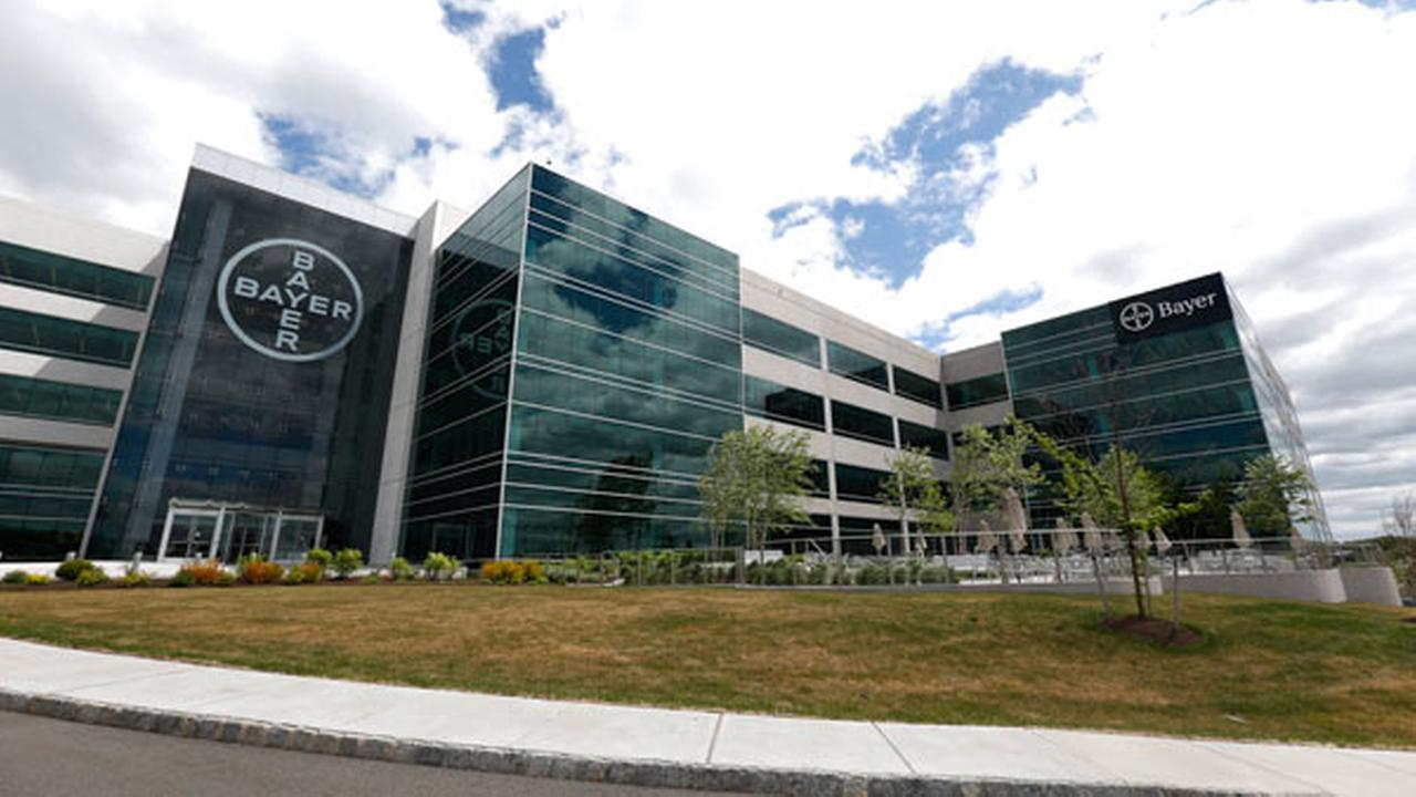 FILE - This Wednesday, May 13, 2015, file photo, shows the North American headquarters of Bayer Healthcare in Whippany, N.J.