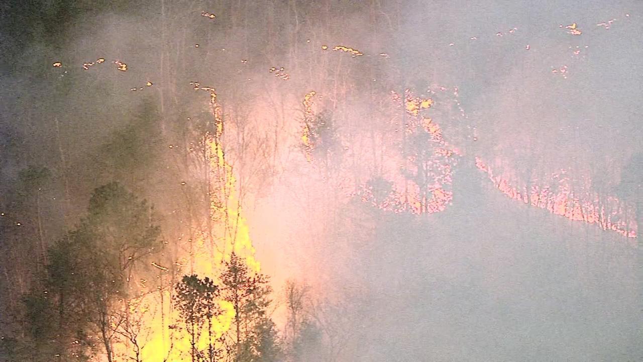 VIDEO: Chopper 6 over brush fire near Millville, N.J.