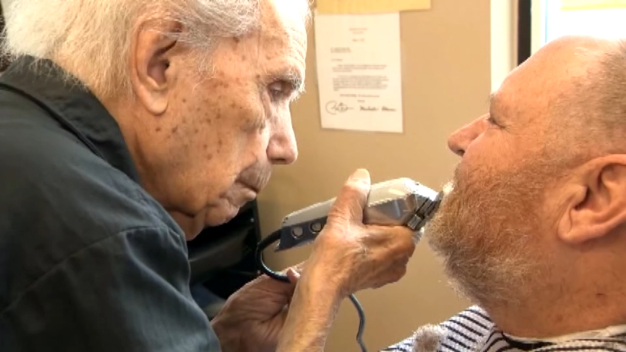 A barber has been cutting hair for nearly a century in a small town in upstate New York.