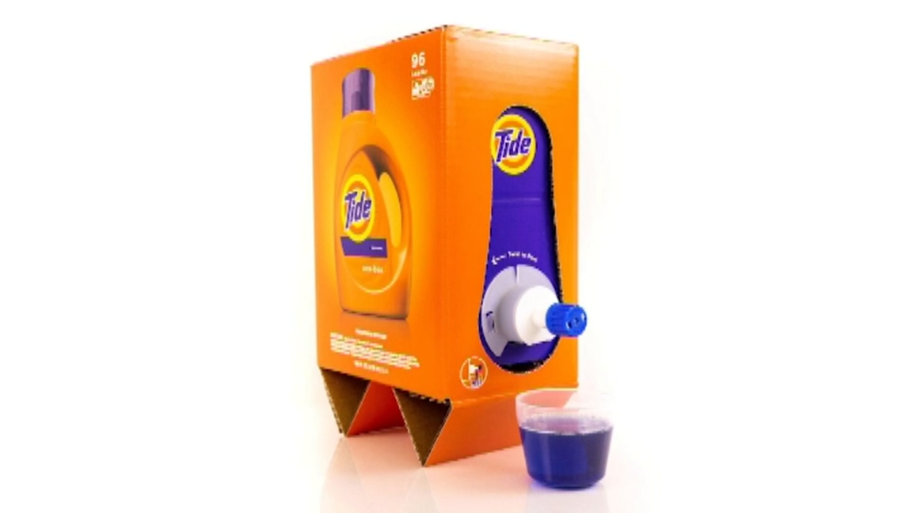 Laundry detergents shrink bottle size, packaging for Amazon shipment. Gray Hall reports during Action News at 6 a.m. on December 29, 2018.