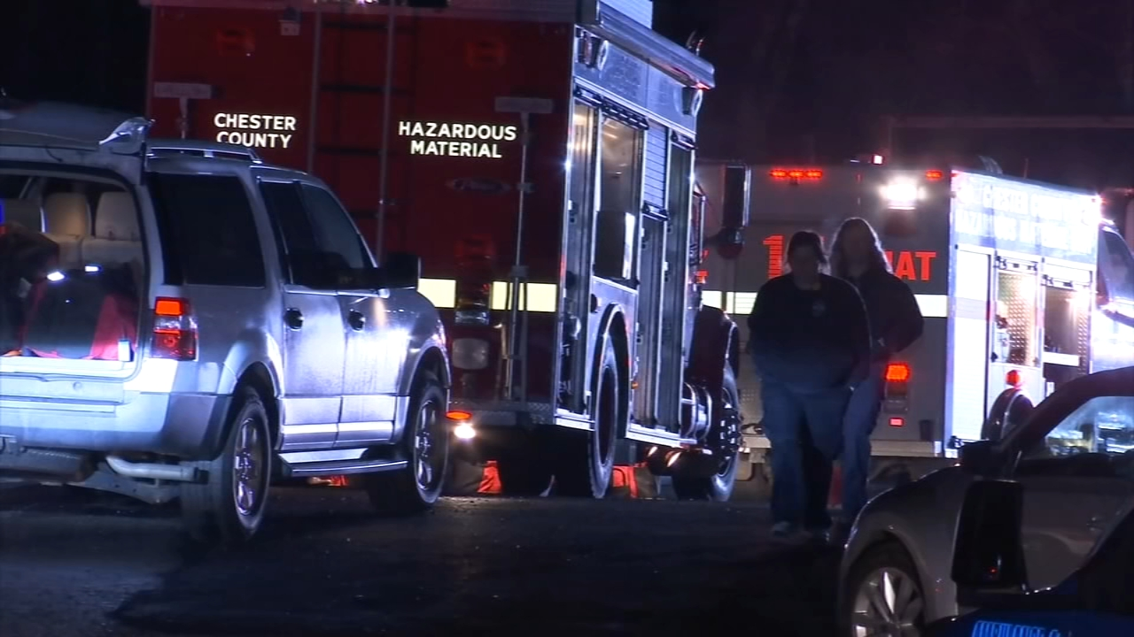 Hazmat crews clean up acid at Chester County tow yard. Gray Hall reports during Action News at 9 a.m. on December 29, 2018.