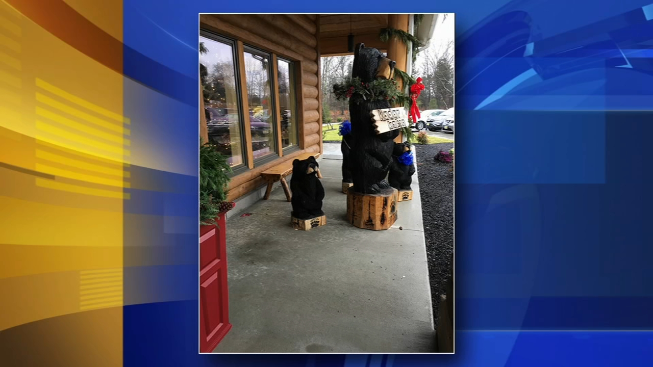 Suspects sought for stealing wooden bear from orthodontist office in Sewell. Gray Hall reports during Action News at 7 a.m. on December 29, 2018.