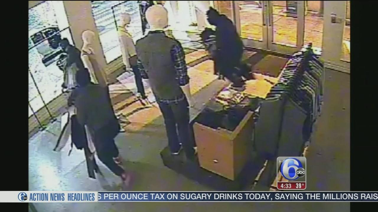 VIDEO: Vince clothing store heist in Rittenhouse Square
