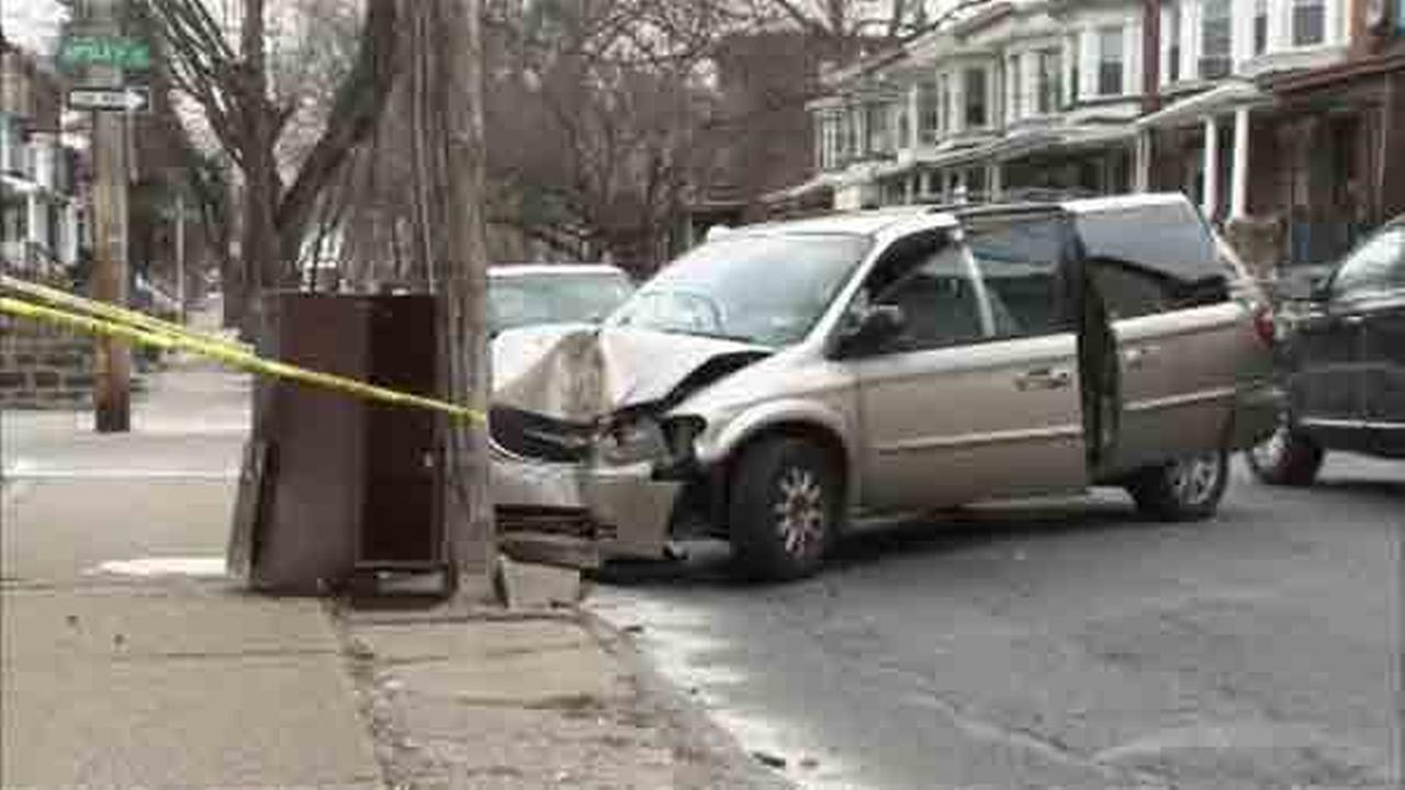 Two people are hospitalized after an accident in the citys Germantown section.