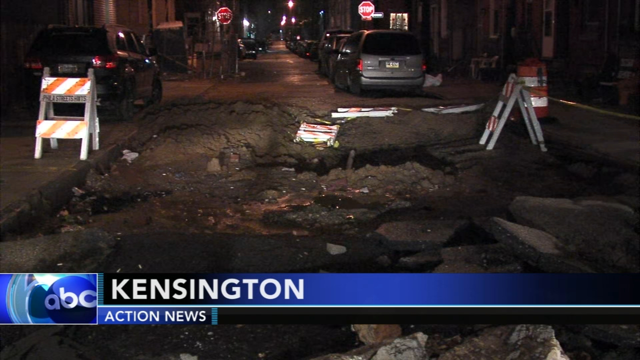 Sinkhole closes down street in Kensington. Nydia Han reports during Action News at 6 a.m. on December 30, 2018.