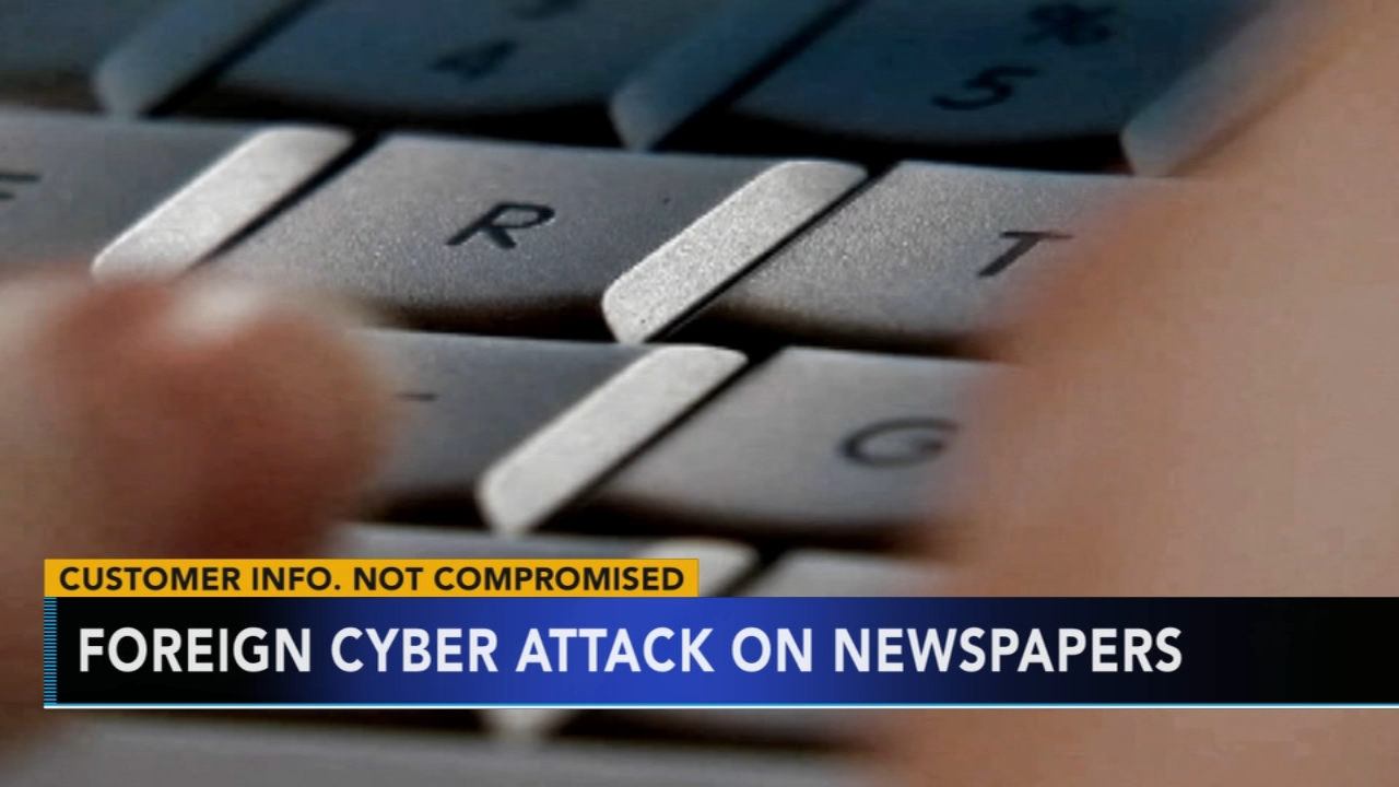 Foreign cyber attack on newspapers: as seen on Action News at 5 p.m., December 30, 2018