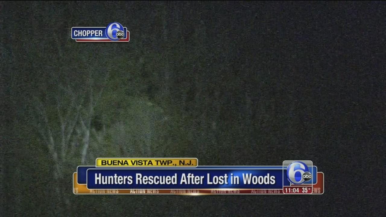 VIDEO: Lost hunters rescued
