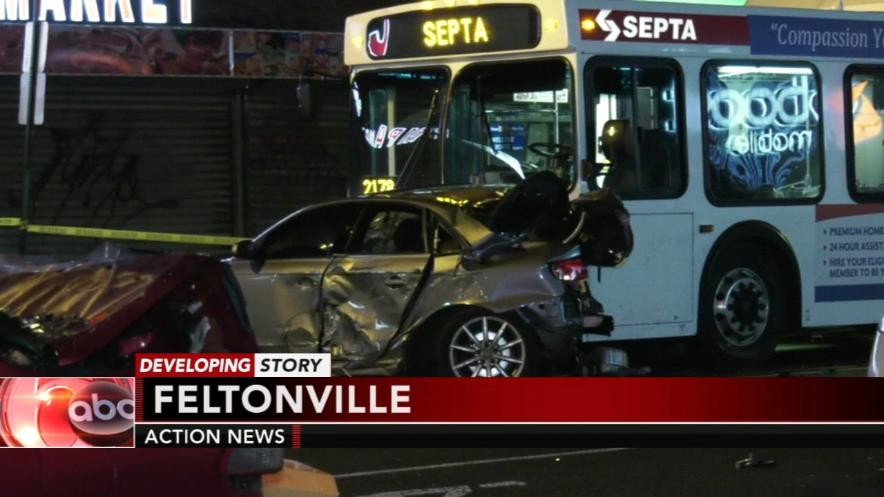 3 cars, SEPTA bus collide in Feltonville. Watch the report from Action News at 4 a.m. on Dec. 31, 2018.