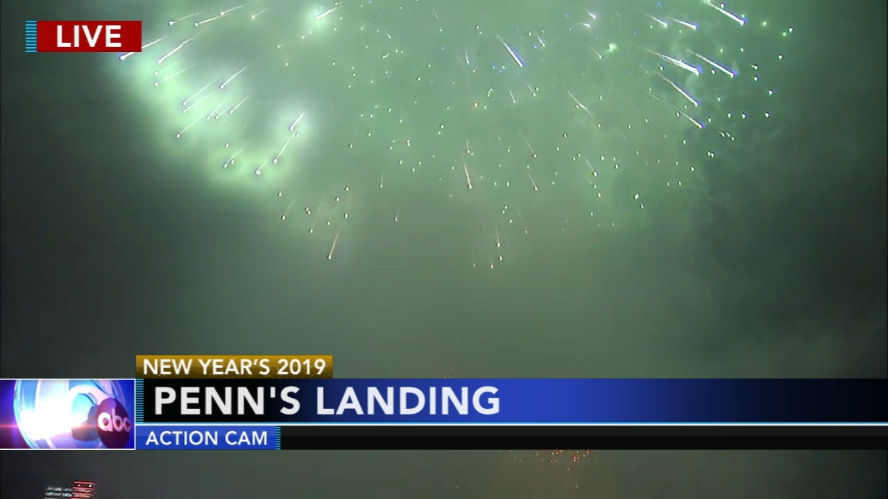 New Year fireworks light up the sky over the Delaware River. Annie McCormick reports during Action News at 6 p.m. on December 31, 2018.