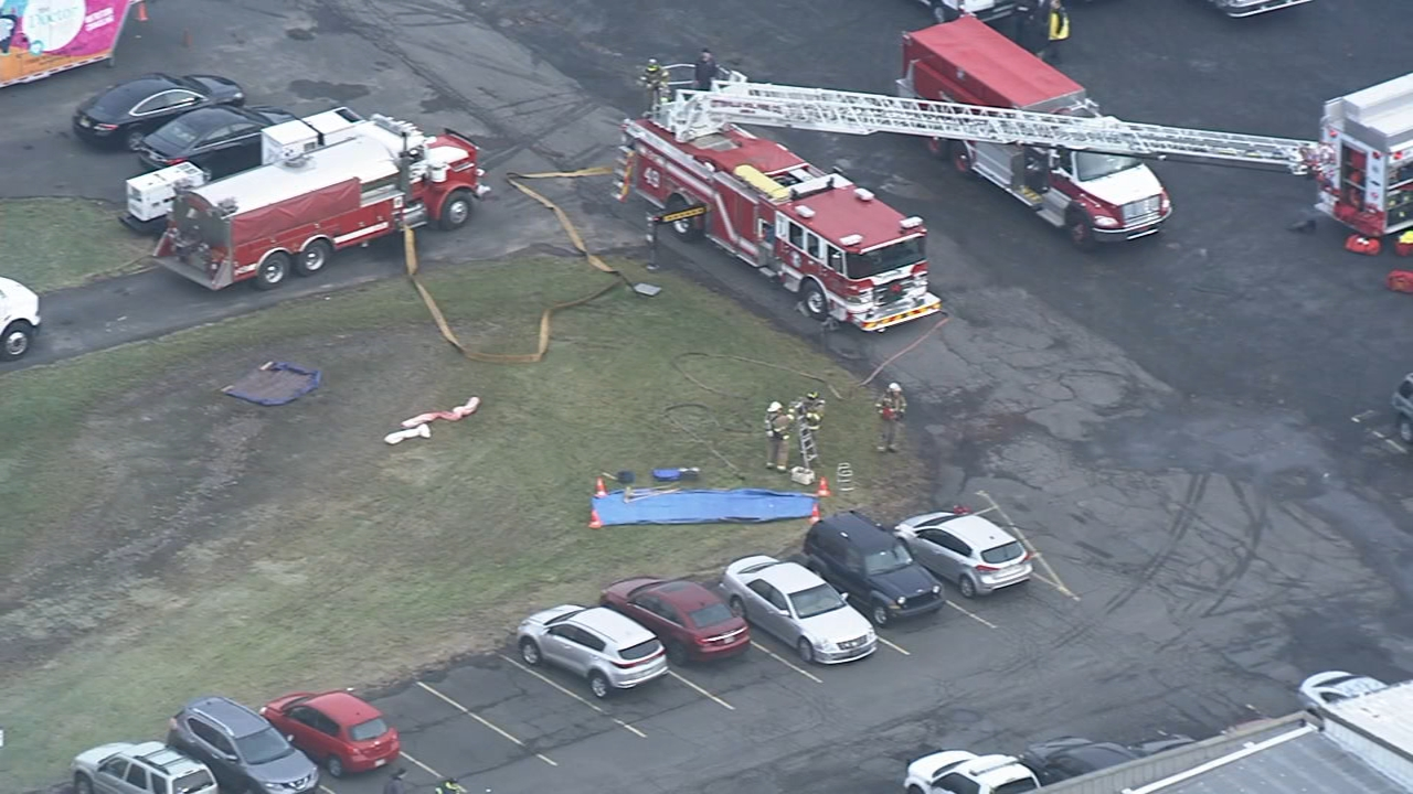 Watch raw video from Chopper 6 over the scene of a hazmat incident in Plumsteadville, Bucks County on Dec. 31, 2018.