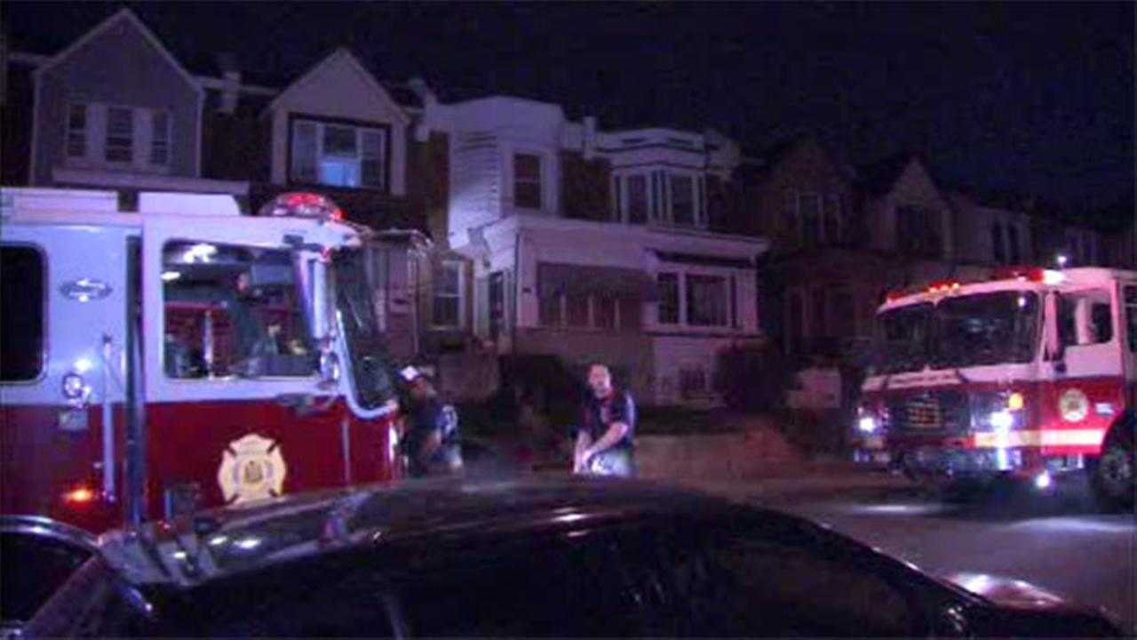 Roof fire damages Fern Rock house