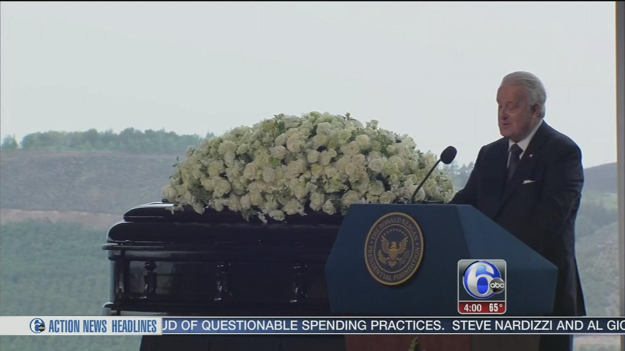 VIDEO: Friends, family say final farewells to Nancy Reagan