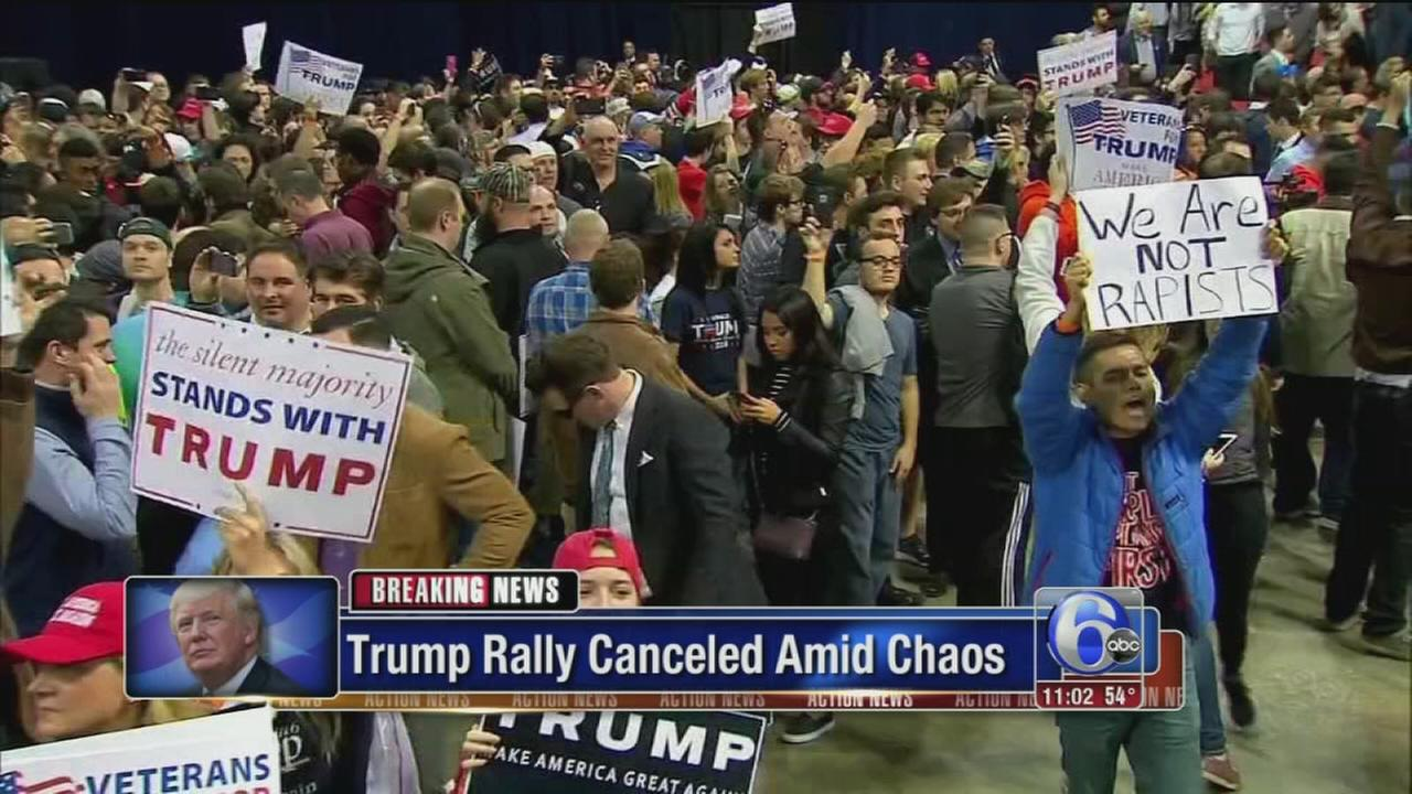 VIDEO: Trump rally protest
