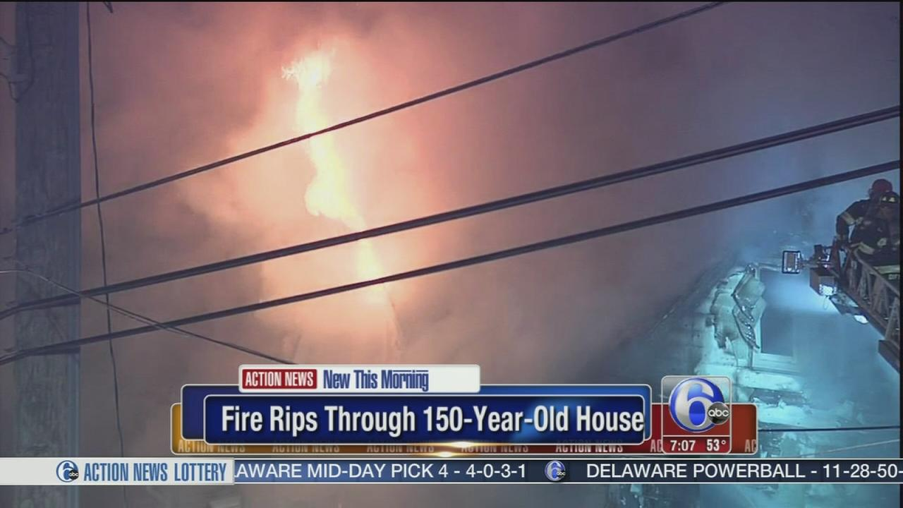 VIDEO: Fire damages 150-year-old home
