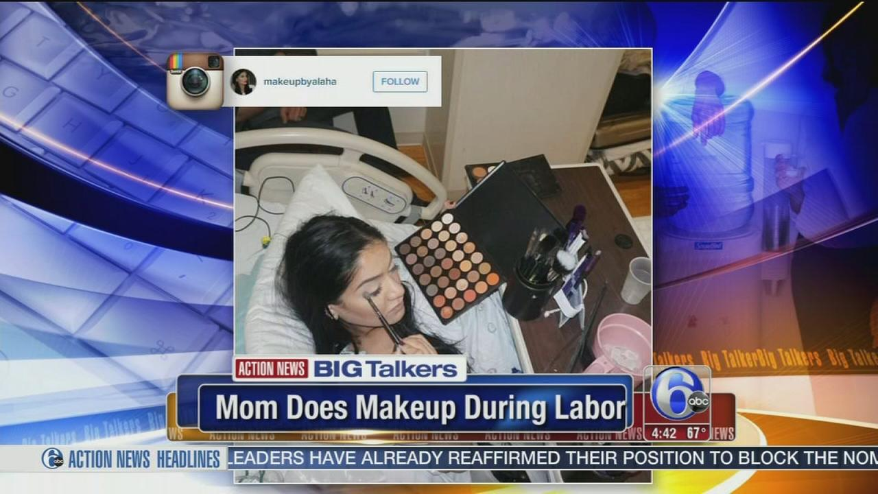 VIDEO: Mom applies full makeup while in labor