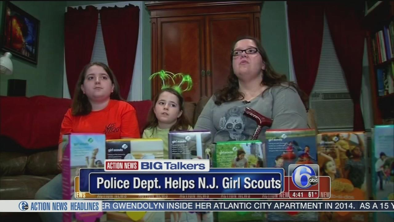 VIDEO: Police help NJ sisters sell hundreds of Girl Scout cookies