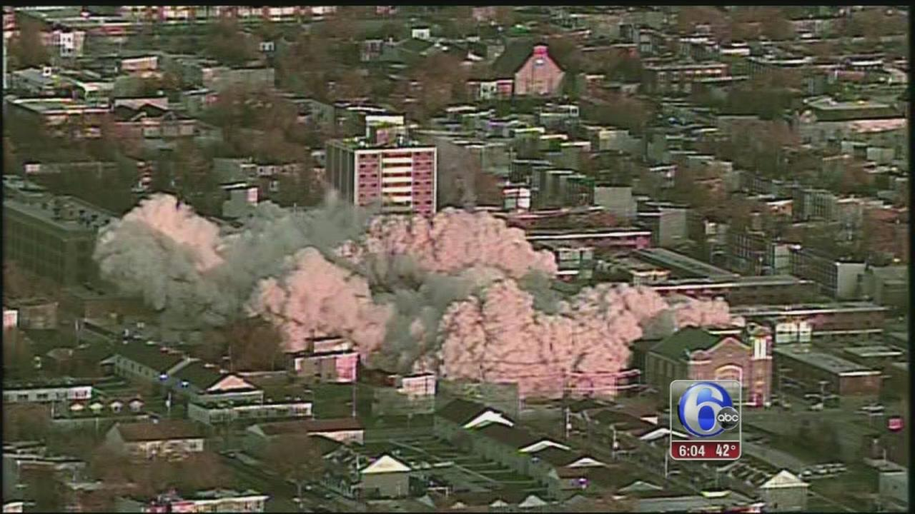 VIDEO: Notorious towers in North Philly come down
