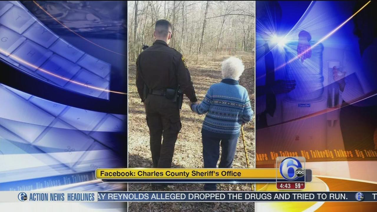 VIDEO: Officer walks elderly woman with dementia home