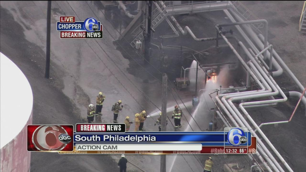 VIDEO: Fire at industrial site in South Phila.
