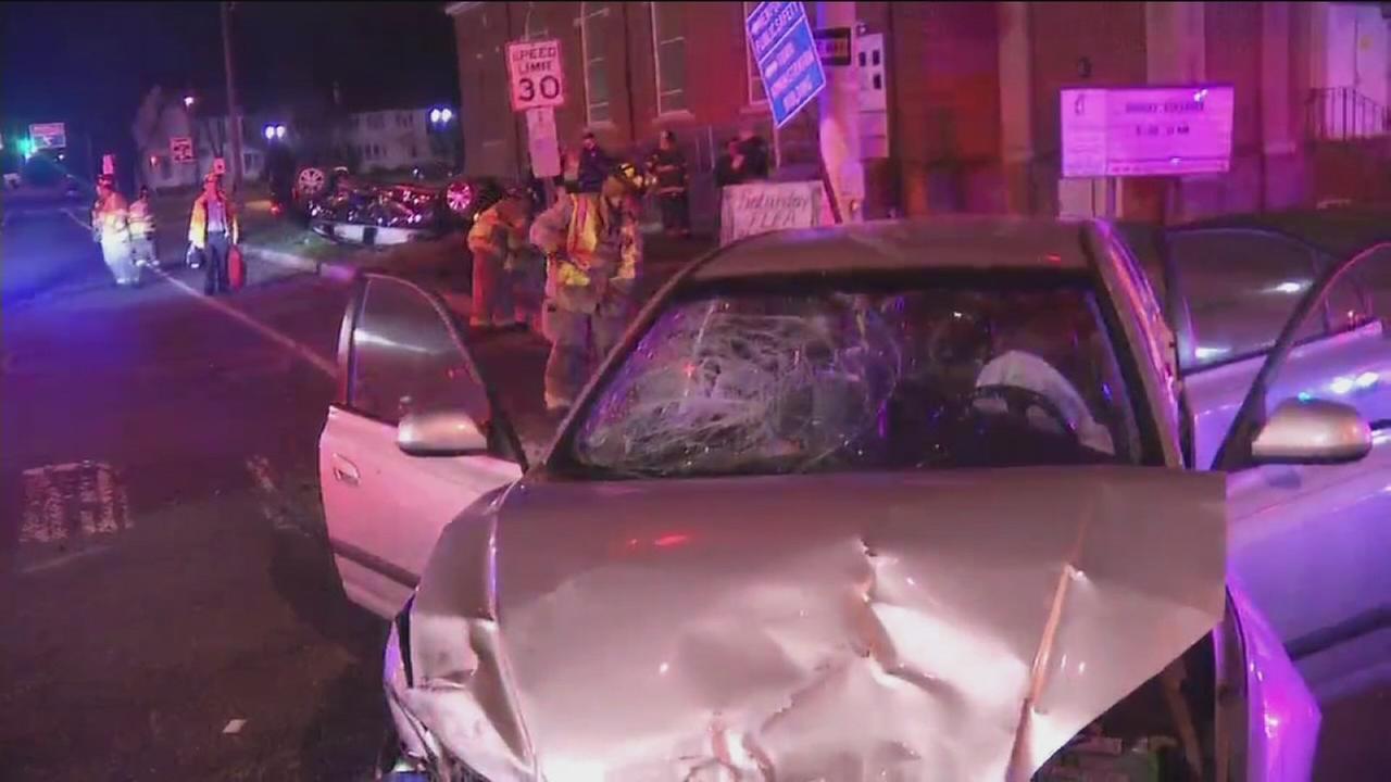 VIDEO: 6 injured in Newport crash