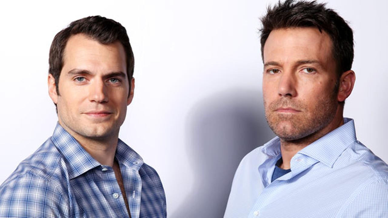 In this March 18, 2016 photo, Henry Cavill, left, and Ben Affleck pose for a portrait in Los Angeles to promote their film, Batman v Superman: Dawn of Justice, opening Friday.