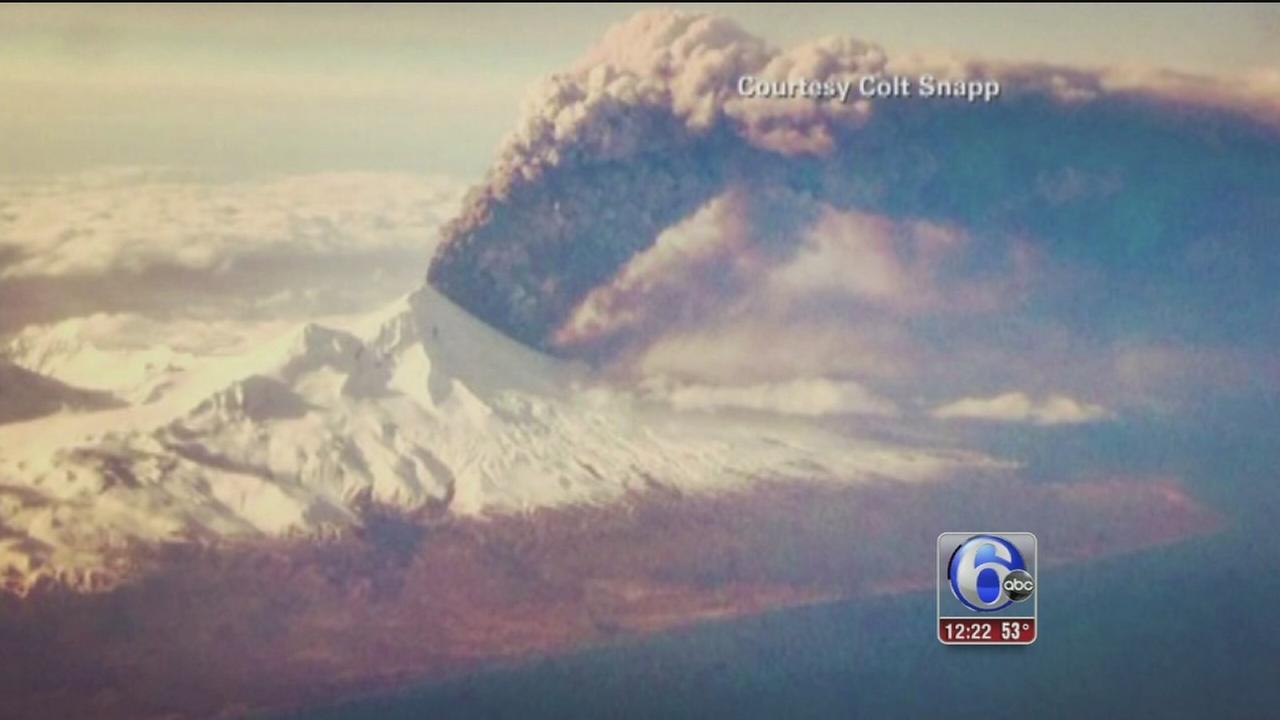 VIDEO: Volcano erupts in Alaska