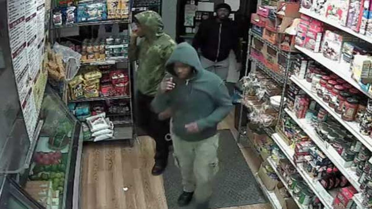 Pictured: Three suspects who attacked and robbed a man outside a convenience store on the 6600 block of Chew Avenue in East Mount Airy around 9 p.m. on March 18.